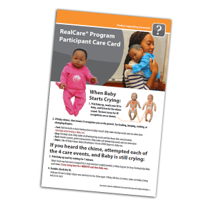 RealCare Participant Care Card - English